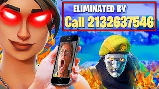 I put my REAL NUMBER in Fortnite Name! *GONE BAD*