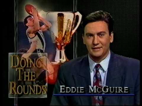 Eddie McGuire interviewing Darren Millane on Channel 10 sport