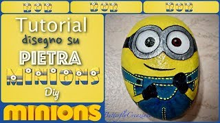 Tutorial disegno su pietra Minions | How to draw Minions | Tutorial rock painting |