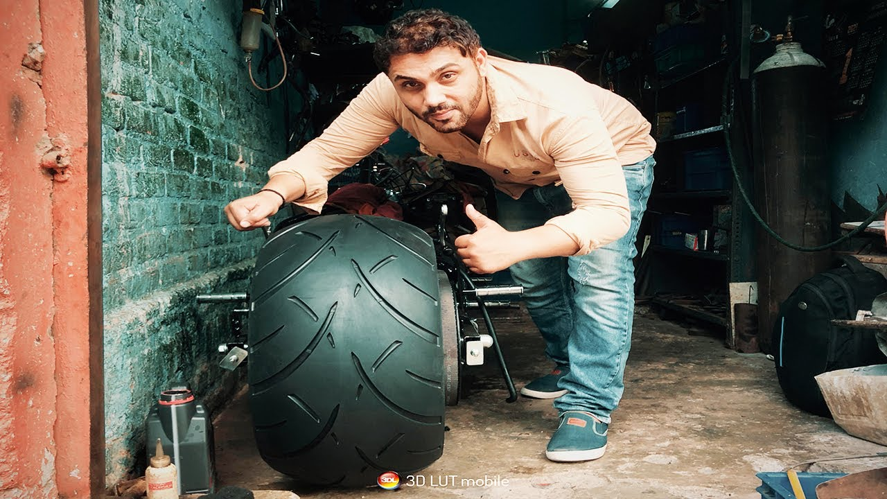 Fully Loaded with Chrome Bullet 300mm fat Tyre in Karol Bagh Delhi #Shorts#modifiedBullet