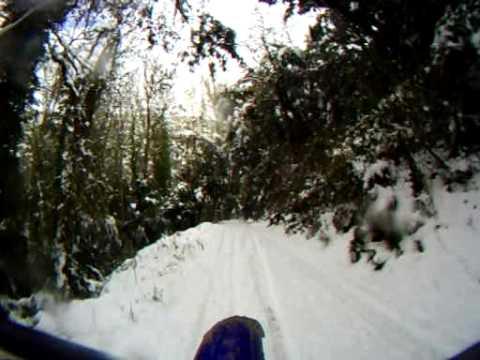 Resultat d'imatges de fotos nevada circuit motocrosa sant hilari sacalm