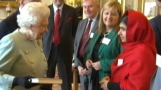 Malala Yousafzai, the Teenager Who Was Shot by the Taliban, Meets Queen Elizabeth