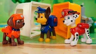 Видео для детей с игрушками Щенячий патруль все серии подряд на русском!