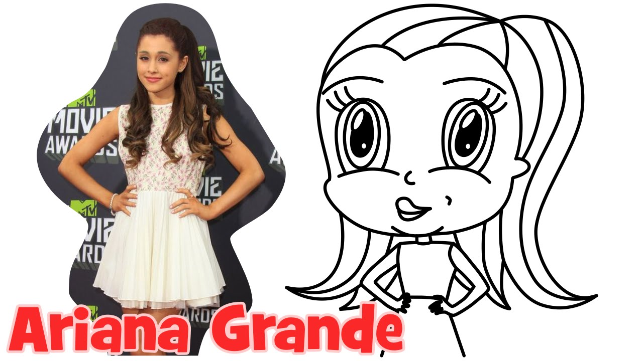 Easy Drawing Of Ariana Grande For Kids