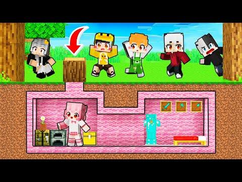MrVit và Kamui tìm thấy CĂN HẦM BÍ MẬT màu Hồng của Mimi TV trong Minecraft ?