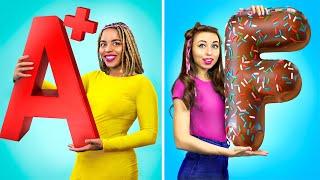 Real vs Chocolate Food Challenge!