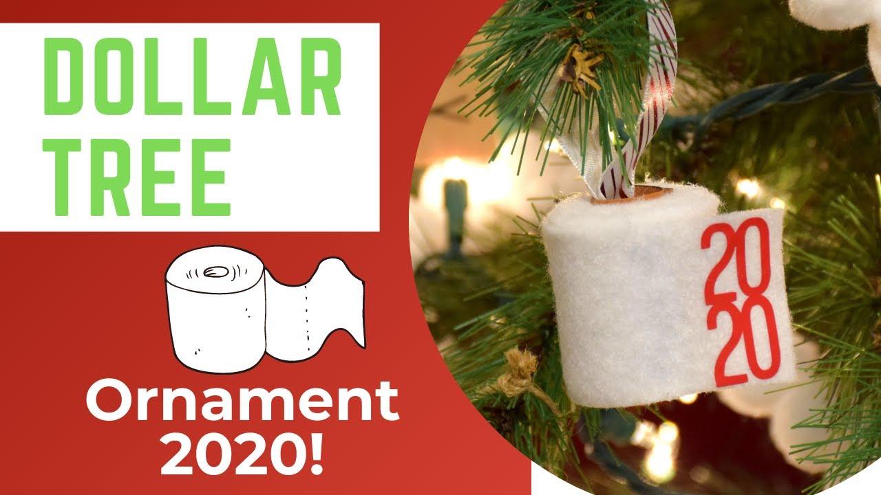 Dollar Tree Felt Toilet Paper Ornament 2020 Cricut Christmas Ornaments Youtube Paper Christmas Ornaments Holiday Crafts Christmas Paper Ornaments