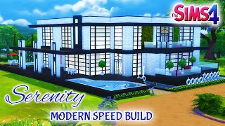 Sims 4 House Build: Serenity Modern Family Home With Spa