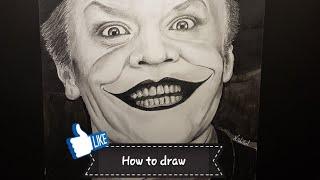 The Joker How to Draw Jack Nicholson   | Norbertdraw