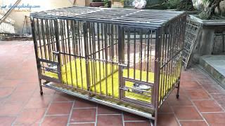 Chuồng chó inox 2 ngăn. Chuồng lắp ghép, đẹp rẻ tại Hà Nội và TpHCM