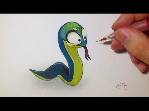 Comment Dessiner Un Serpent comment dessiner un serpent kawaii [tutoriel] dofus 'fin - youtube