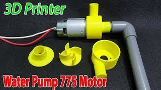 Build Powerful Water Pump 12volt With 775 Motor and 3D Printer