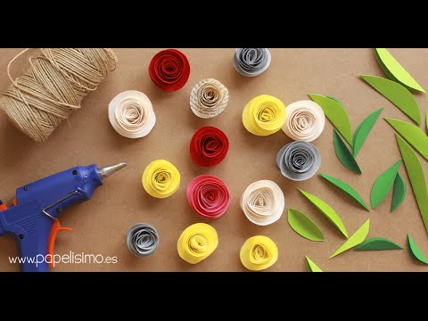 Flores de papel y cartulina youtube - Youtube manualidades de papel ...