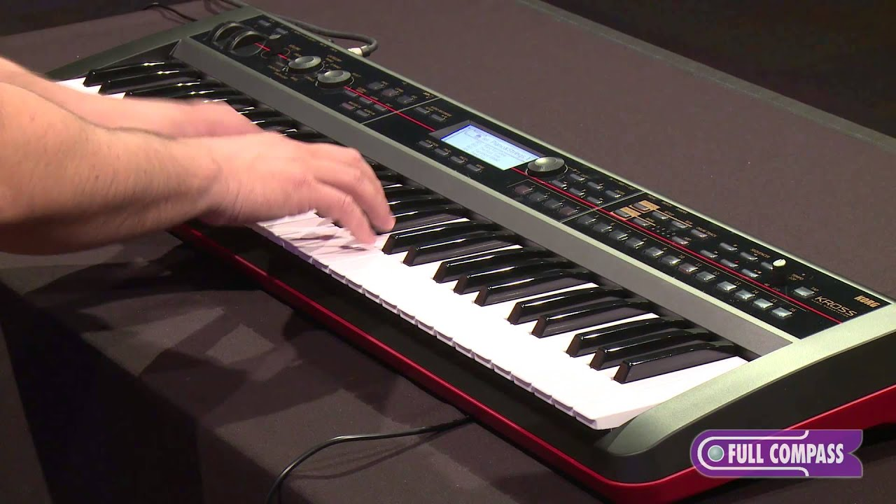korg kross workstation keyboard synthesizer review full compass youtube. Black Bedroom Furniture Sets. Home Design Ideas