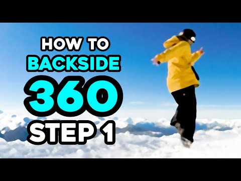 How To Snowboard Spin Trick / Back Side 360 - Step 1