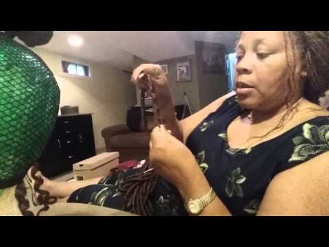 Alopecia/Lupus Saved by Latch Hook/Crochet Braid Style - YouTube
