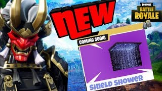 NEW SHIELD SHOWER ITEM COMING TO FORTNITE BATTLE ROYALE