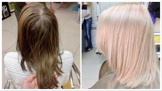 Окрашивание волос. Блонд.(Декапирование. Окрашивание волос в блонд. Продукция фирмы Rolland (Италия). 1. Декапирование: крем WizOut + 20 Vol, 1:2...., 2017-02-07T23:56:40.000Z)