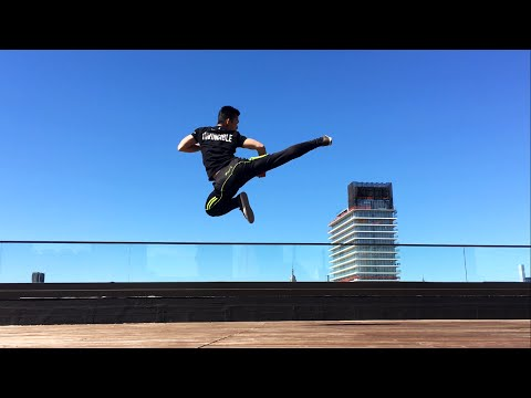 [HD] Martial Arts Kicks and Tricks on NYC Rooftop Shot on iPhone 6S | P3MA RAW Series