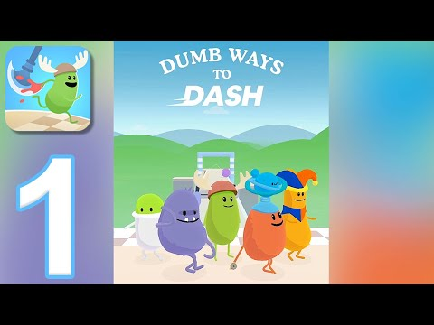 Dumb Ways To Dash - Gameplay Walkthrough Part 1 - Tutorial (iOS, Android)