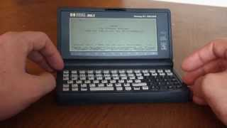 How I use my vintage HP 200LX today.