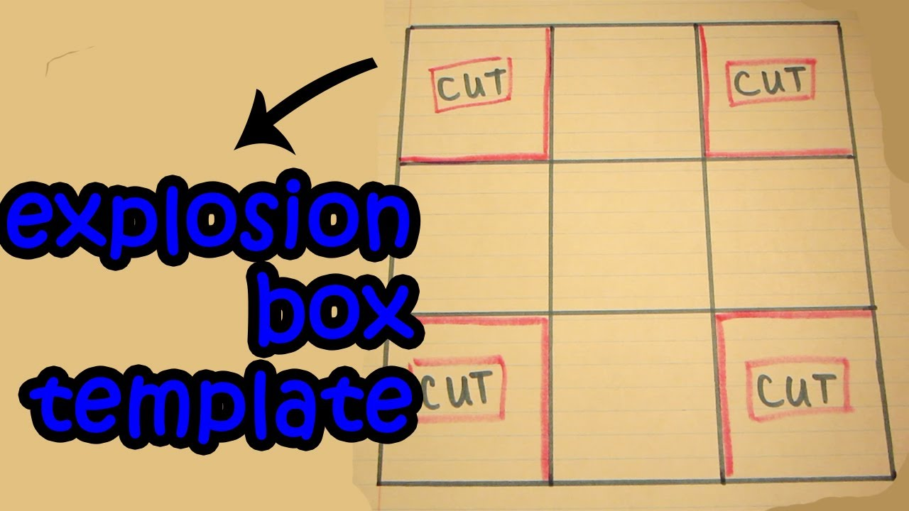 tutorial template easy explosion box youtube
