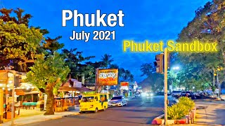PATONG BEACH Phuket July 2021 at NIGHT - Bangla Road - Beach Road - Second Road - Soi Sansabai