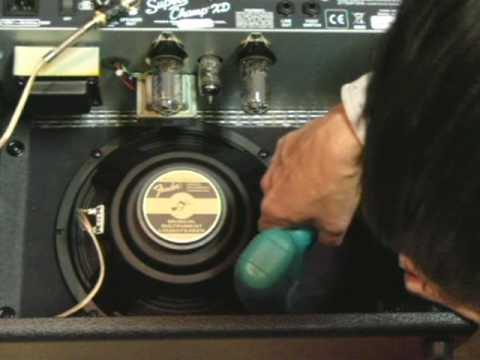 Speaker unit exchange(Fender Super champ XD)