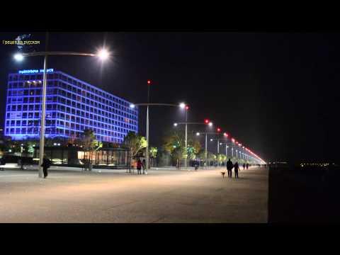 Минута Греции: New seafront Thessaloniki at night ᴴᴰ