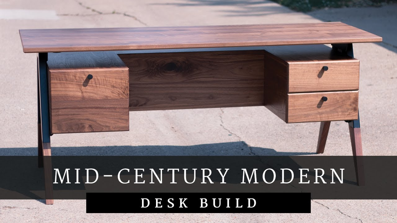 Mid Century Modern Desk Build