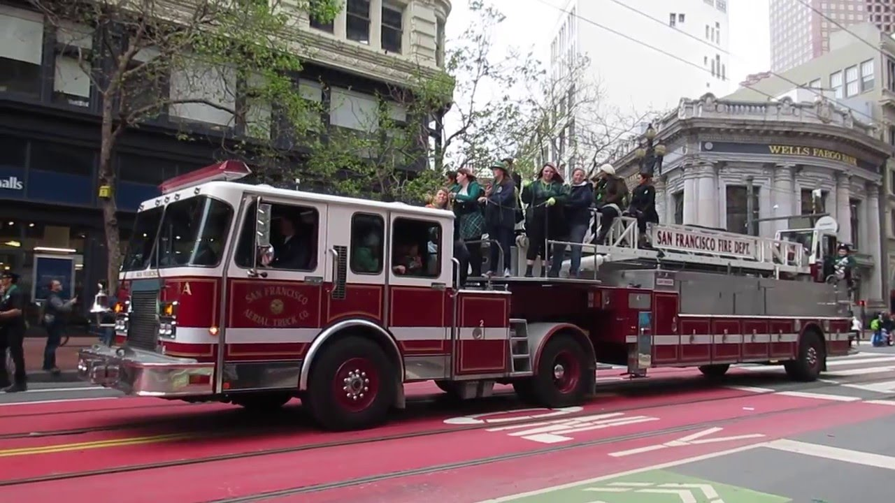 San Francisco St  Patrick's Day Parade 2016 San Francisco Fire Department &  Chief Joanne Hayes-White
