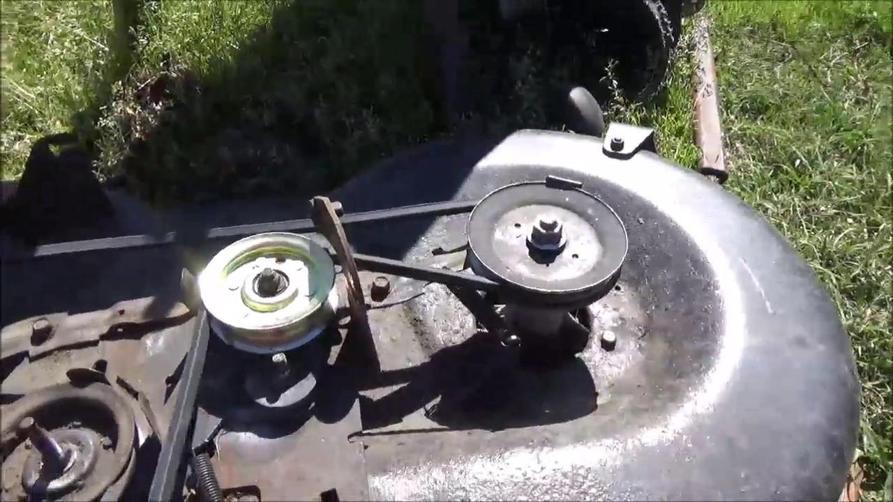 Craftsman Lt1000 Mower Deck Repair And Belt Replacement