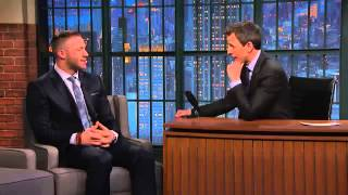 Julian Edelman Tries to Recruit Seth to Patriots Nation   Late Night with Seth Meyers
