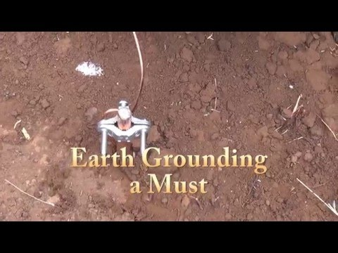 Earth Grounding Solar Off Grid System - Grounding Batteries, Panels, Controller, Inverter