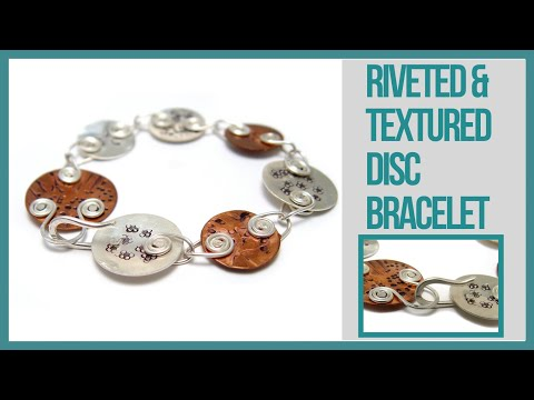Riveted & Textured Discs Bracelet Tutorial - Beaducation.com