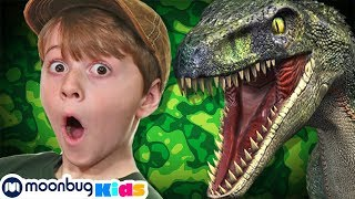 Giant Life Size T-Rex Chase & Brachiosaurus Dinosaur | Jurassic Tv | Dinosaurs and Toys | Family Fun