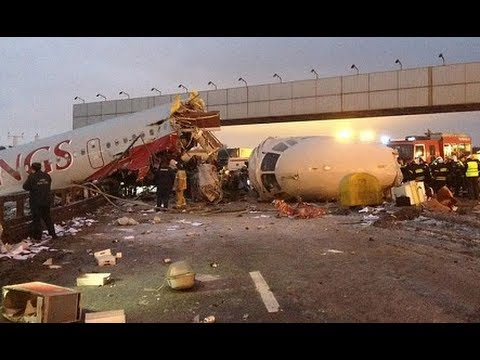 Russian TV shows aftermath of Moscow plane crash