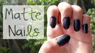HOW TO: Get Matte Nails Thumbnail