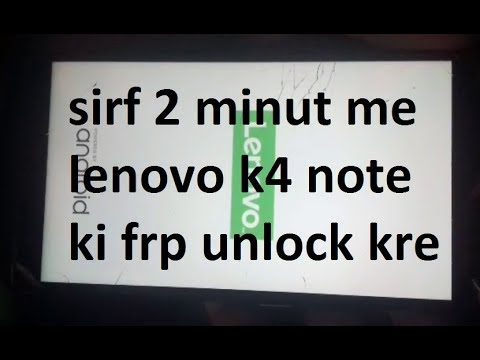 Lenovo K4 Note A7010a48 FRP UNLOCK DONE IN 2MINUT TESTED