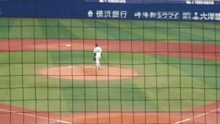 2016年5月10日 ハマスタ(横浜スタジアム) 遠藤和彦氏の始球式です。