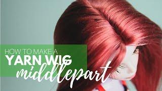 How to Make a Doll Wig | Basic Middlepart | Mozekyto #2