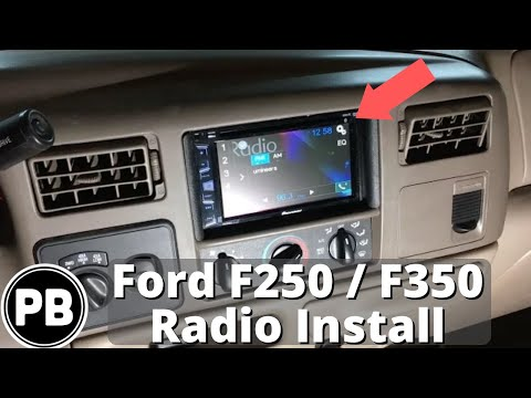 1998  2004 Ford F250  F350  Excursion Touch Screen Stereo Install  YouTube