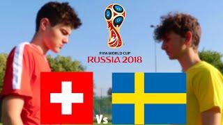 SCHWEIZ vs. SCHWEDEN, WM 2018 Achtelfinale | Fussball Challenge - Hipster Gnogg