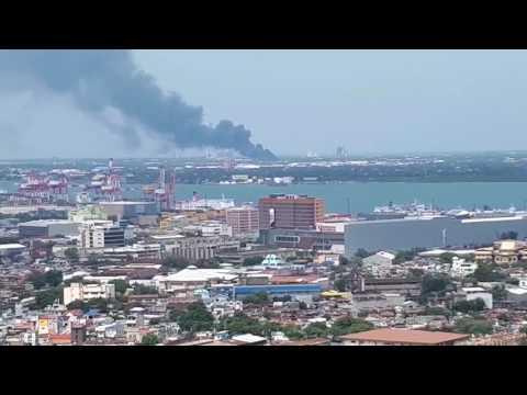 Fire in Mactan Island, Lapu-Lapu City, Cebu 7/28/17 (1)