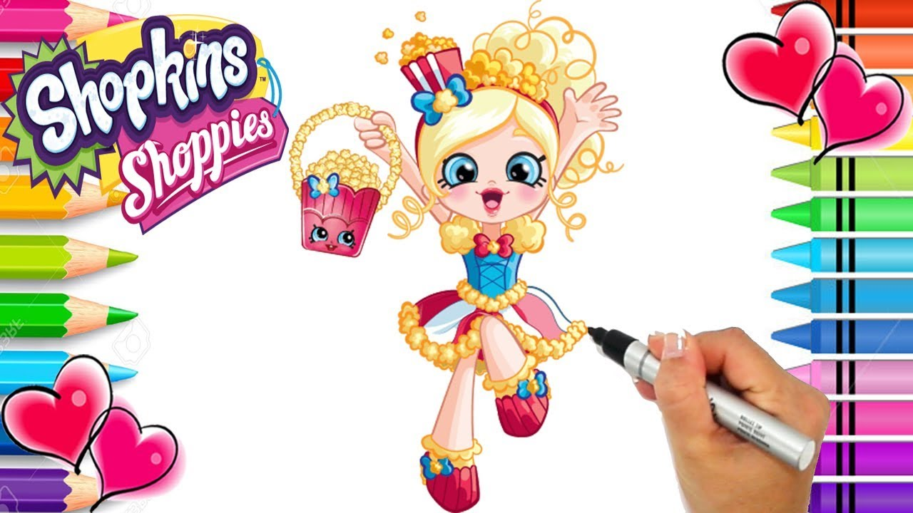 Shopkins Shoppies Popette Coloring Page