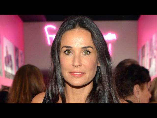 Demi Moore, 53, Rocks Her Natural Gray Hair During Casual Lunch Date