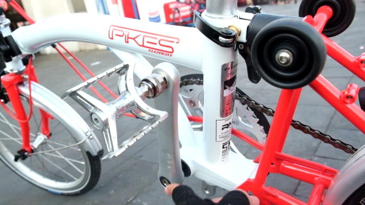 Review Dan Kelebihan Sepeda Lipat Element Pikes Upgrade Parts Brompton Youtube