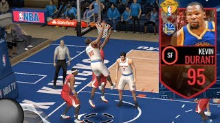 WOW NBA FINALS Kevin Durant CANNOT MISS! INCREDIBLE PACK OPENING! NBA Live Mobile Gameplay