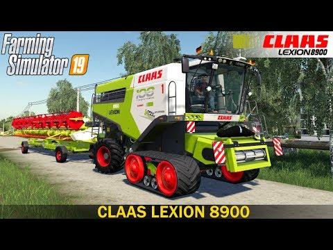 Farming Simulator 19 - CLAAS LEXION 8900 COMBINE With Header 13 Meters