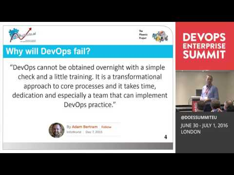 DOES16 London - Jan Schilt - DevOps Is Not Going to Work: The Phoenix Project Simulation